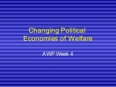 Analysing Welfare Policy - Week4