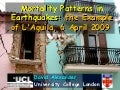 Analysis of mortality patterns in the 2009 l'aquila earthquake