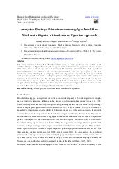 Analysis of savings determinants am...