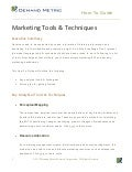 Analytical Marketing Tools and Techniques