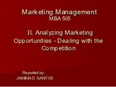 Analyzing marketing opp. dealing wi...