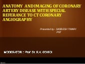 Anatomy  and imaging of coronary ar...
