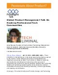 Global Product Management Talk With Anca Mosoiu, Founder of Tech Liminal, On Hacking Professional Tech Communities