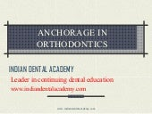 Anchorage in orthodontics /Dental C...