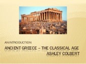 Ancient greece – the classical age