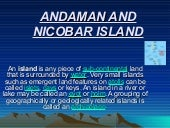Andaman and nicobar islands..