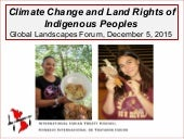 Climate change and land rights of Indigenous peoples