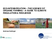 Eco-Intensification - the science o...