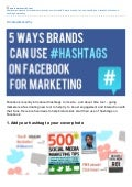 5 Ways Brands Can Use Hashtags on Facebook for Marketing