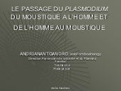 Le passage du plasmodium du moustiq...