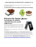 Android Applications Benefits for Smartphone Users