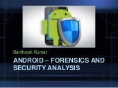 Android– forensics and security testing