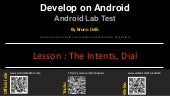 Android Lab Test : Using the Intent Dial (english)