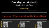 Android Lab Test : Managing sounds with SoundPool (english)