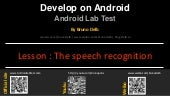 Android Lab Test : Using the voice recognition (english)