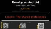 Android Lab Test : Storage of data with SharedPreferences (english)