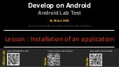 Android Lab Test : Installation of application in Java (english)
