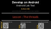 Android Lab Test : The threads (english)