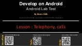 Android Lab Test : Managing the telephone calls (english)
