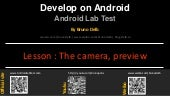 Android Lab Test : Using the camera preview (english)
