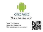 Android Minnebar