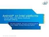 Android on Intel platforms : curren...