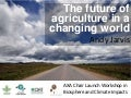 Future agriculture in a changing climate