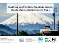 Plugging knowledge gaps on adaptation: Case study for water in the Andes