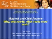 Maternal and Child Anemia- Why, wha...