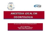 Anestesia local em odontologia