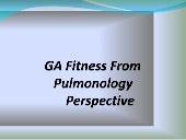 Anesthesia fitness from pulmonology...