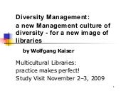 A new Management culture of diversi...