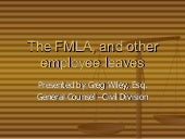 An fmla (and employee leave) primer