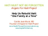 Angels for Haiti Project  Rebuildin...