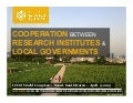 Cooperation Between Research Institutes and Local Governments
