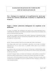 Accord National Interprofessionnel