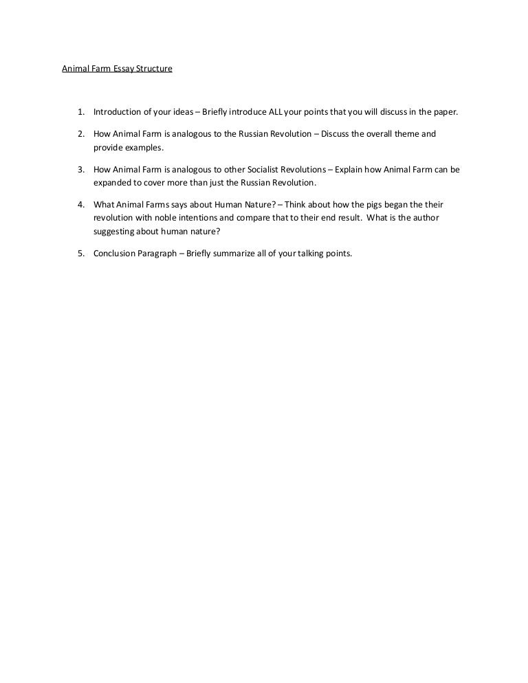Essay Help: Animal Farm!?