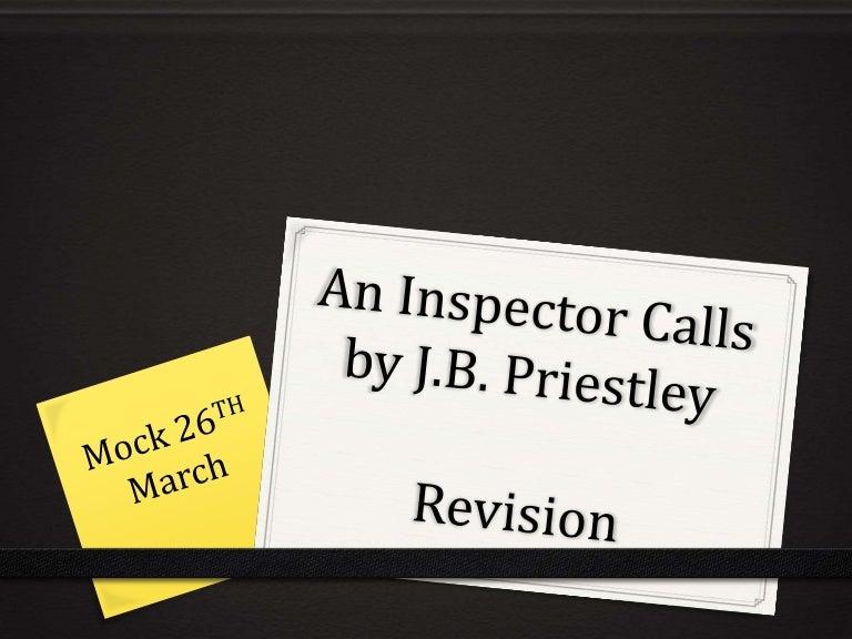 Inspector Calls Question?