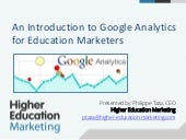 An introduction to google analytics for educational marketers