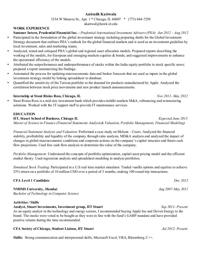 cfa resume examples - Gecce.tackletarts.co