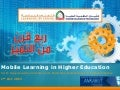 Ankabut presentation Mobile Learning in Higher Education