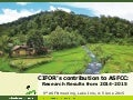 CIFOR's contribution to ASFCC: Research Results from 2014-2015
