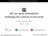AO: Annotation Ontology for science...