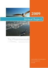 Annual report 2009_taj pharmaceutic...