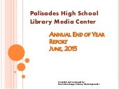 Palisades High School Library Annual Report 2014-2015
