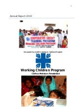 Annual report of working children p...