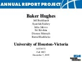 Annual Report Project: Baker Hughes