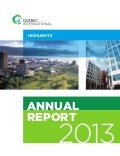 Québec International 2013 annual report