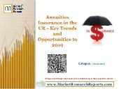 Annuities Insurance in the UK - Key Trends and Opportunities to 2019