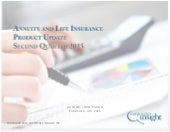 Annuity and life insurance product update - Q2 2015